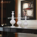 New products resin white candle stick holder centerpieces for wedding table