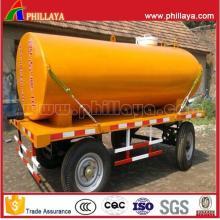 15-25cbm ejes doble combustible agua cisterna remolque