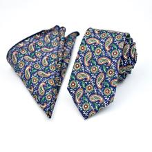 Vente en gros Skinny Coton Floral Paisley Print Mens Shirt et ensembles de cravate