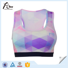 Womens Dry Fit Sublimación de patrón personalizado Athletic Sports Bra
