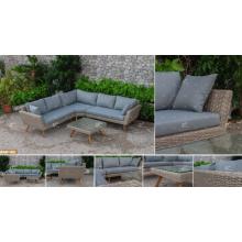 COLLECTION CANARIENNE - Le plus récent ensemble de canapé en rotin Poly-PE 2017 à la mode pour meubles de jardin extérieur