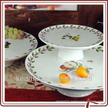 New Design Ceramic Porcelain Tableware Dinnerware Cake Plate