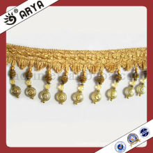 High Standard Polyster Beaded Fringe For Curtain Decorative Lampshade Decorative Fringe