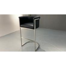 Modern Commercial Furniture Blue Velvet Gold Finish Frame Club Bar Stool