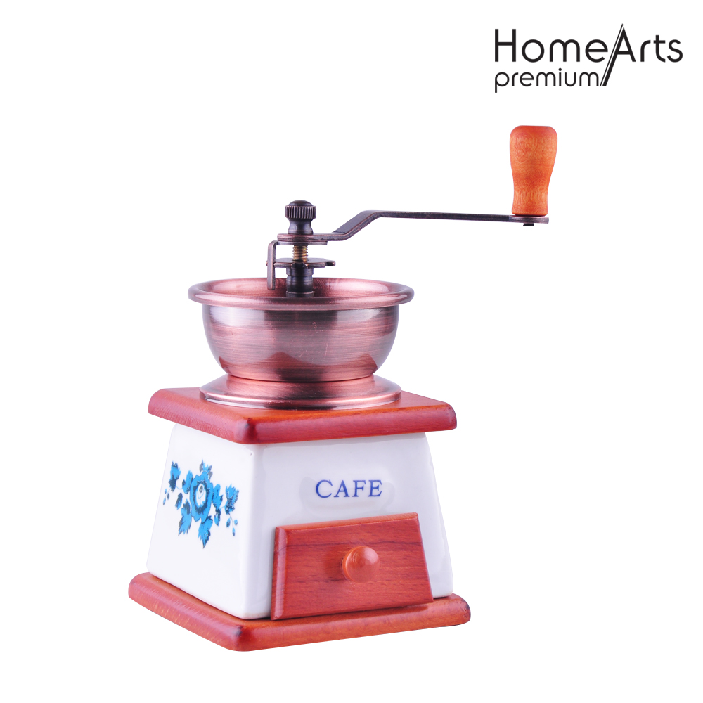 Ceramic burr coffee bean grinder