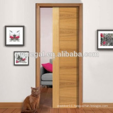 Space saving pocket interior sliding wooden doors
