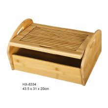 Bamboo Bread Cutting Board With Bread Crumb Catcher