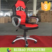 Neue Art- und Weiseweißes Leder-laufendes Büro-Sitze-Stuhl für Verkauf