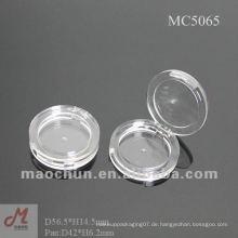 MC5065 Transparente kleine Plastikbehälter, leere Make-up kompakt, erröten Palette