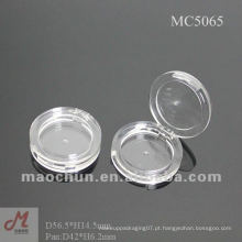 MC5065 Transparente recipiente de plástico pequeno, compacto de maquiagem vazia, paleta corar