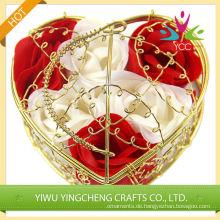 Lust auf ausgefallene Handseifen mit herzförmigen baskest Blume Seife/Handseife