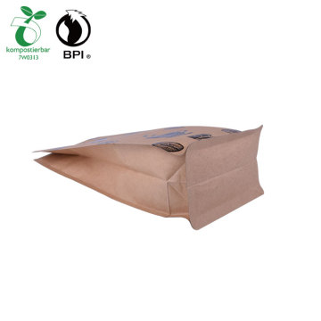 Kompostable resealable Kraft Paper Coffee Bag Custom Bag Manufacturer where to buy bags bio