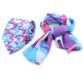 Mens Silk Tie with Women Custom Silk Printed Scarf Hand Rolling Fashion Scarves