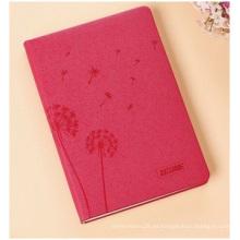 Cuadernos Loose-Eaf promocionales, cuadernos de tapa roja de imitación