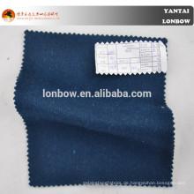 Woolen Marineblau Wolle Kaschmir Mantel Stoff für die Wintersaison