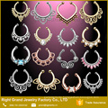 Gold, Silber, Rose Gold Clip auf Tribal Body Jewelry Septum
