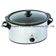 Forma ovalada de la olla de cocción lenta, acero inoxidable, 4,5 L (5,10 QT)