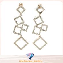China Joyería al por mayor serie de diseño cuadrado joyería de moda de diseño para mujer Pendiente de joyería de plata de ley 925 (E6508)