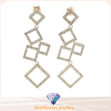 China Wholesale Jewelry Series of Square Pattern Design Fashion Jewelry for Woman 925 Sterling Silver Jewelry Earring (E6508)