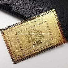 Custom Brass Finish Metal Business Cards Name Card