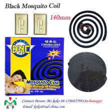 Bobina de mosquito negro de la bobina del mosquito de la fibra de la planta del precio barato de la alta calidad