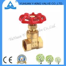 Válvula de porta de água de bronze de alta qualidade com volante de ferro (YD-4007)