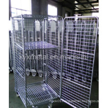 Movable Heavy Duty Foldable Wire Mesh Trolley