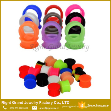 Oreilles Silicone Chair Flesh Tunnels Glow in the Dark Bouchons d'Oreilles Selles