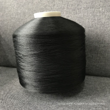 high quality  Eco-Friendly AA Grade 75/36 Recycled DTY Yarn in black color for weaving