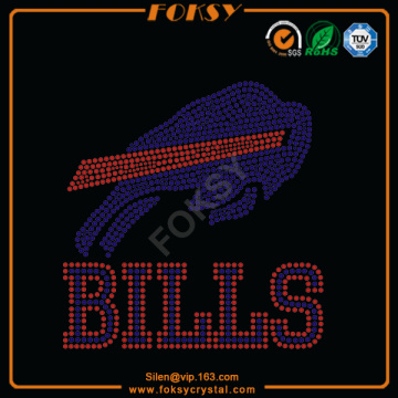Buffalo Bills iron on rhinestone designs