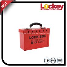 Kit de bloqueio de aço Protable e caixa de bloqueio de grupo