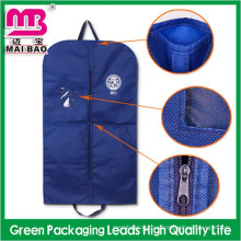 El bolso de empaquetado modificado para requisitos particulares para los trajes de los hombres suministra la bolsa no tejida del traje de la cubierta de la ropa de algodón