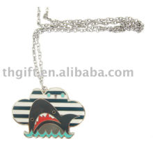 Metal Imitation enamel necklace with cartoon design