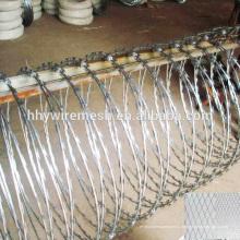 Юоме депот провода горячая окунутая гальванизированная военных концертина бритва лезвия цена колючей проволоки для продажи