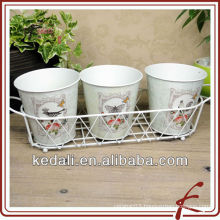 tin flower vase for home decor