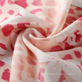 100% poliéster revestimiento de tela de impresión elástica (con flores blancas)