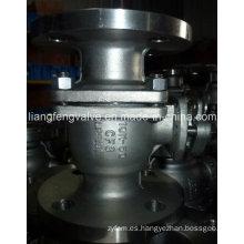 Válvula de bola de extremo de brida de 2PC 10k con acero inoxidable