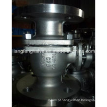 Válvula de esfera de extremidade de flange de 2PC 10k com aço inoxidável