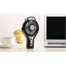 Portable Charging atomizing USB mini fan with 3 level wind speeding-Black