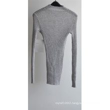 Women 100% Wool Round Neck Knit Sweater