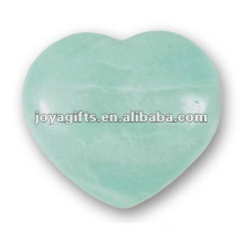 40MM Aqua Quartz Stone Hearts