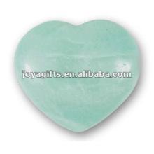 40MM Aqua Quartz Stone Hearts