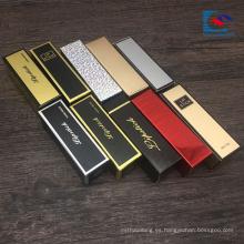 cajas de lápiz labial de caja de fósforos de laminación brillante impresa logotipo personalizado