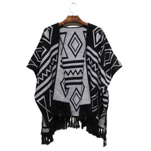 2016 Winter New Women Fashion Acrylic Woven Jacquard Shawl (YKY4503)