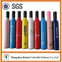 Gift Craft Wholesale Printing Wine Bottle Shape Umbrella with Logo