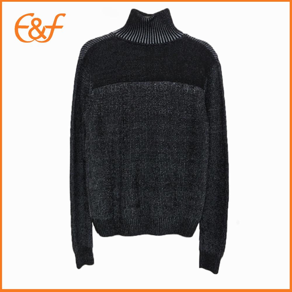 Turtleneck Sweater With Zipper Sweater For Guys