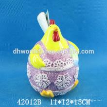 Venta al por mayor titular de utensilios de cerámica de diseño de gallo para pascua