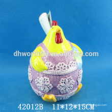 Wholesale cock design ceramic utensil holder for easter