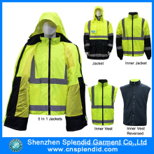 Hi Vis Safety 5 in 1 Jacket with 3m Reflective Tape