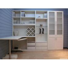 White PVC Euro Book Cabinet